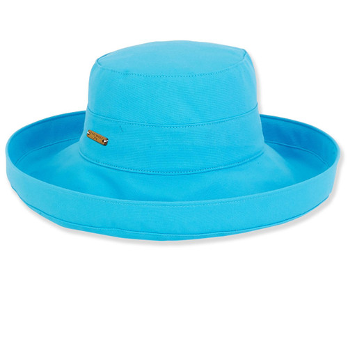 TURQ, COTTON UP BRIM WITH ADJUSTABLE SIZER