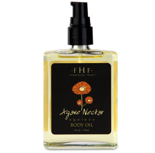 Agave Nectar Body Oil 4.5 oz. Glass Bottle with pump