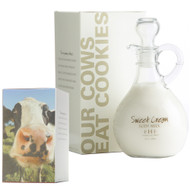 Sweet Cream Body Milk Lotion - Decorative Cruet 10 oz. glass cruet with decorative box