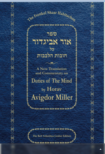 Ohr Avigdor Shaar Bitachon (soft cover) by Rabbi Avigdor Miller