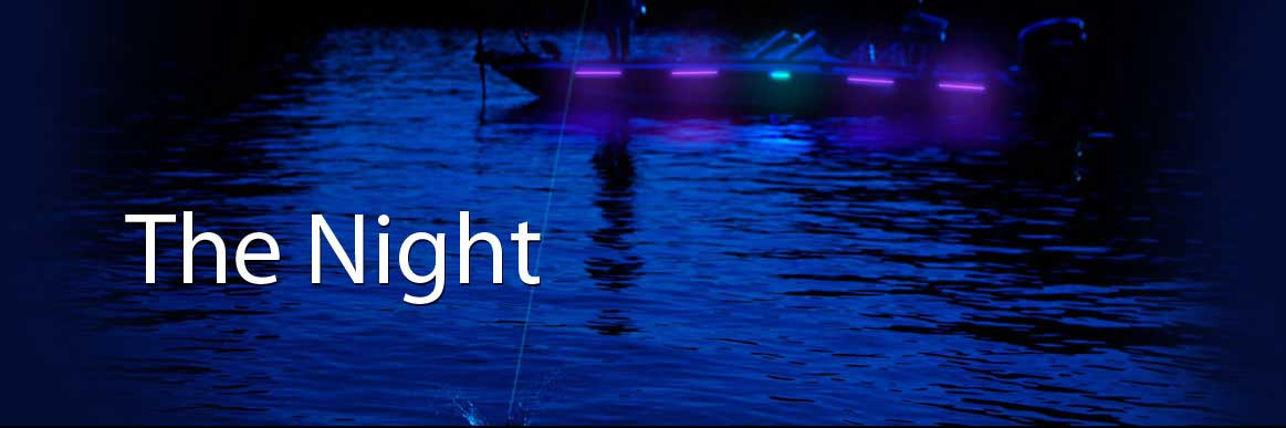 nightfishion led uv black lights, rub rail lights, led night, Reel Combo