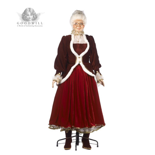 Mrs Clause Life Size Doll With Display Stand