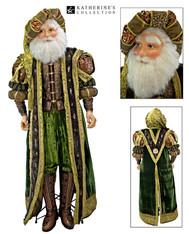 Tapestry Life Size Santa Doll