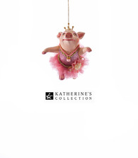 Katherine's Collection Ballerina Piglet Ornament