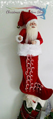 Exclusive Santa Doll Stocking Candy Cane
