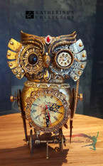 Katherine's Collection Owl Clock Display