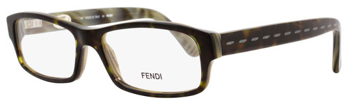 Fendi Rectangular Eyeglasses F826M 345 Size: 54mm Dark Green Horn 826
