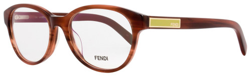 Fendi Oval Eyeglasses F979 232 Size: 51mm Striped Brown 979