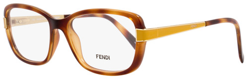 Fendi Rectangular Eyeglasses F1038 725 Size: 52mm Light Havana/Gold 1038