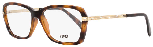 Fendi Rectangular Eyeglasses F1042R 238 Size: 53mm Havana/Gold 1042