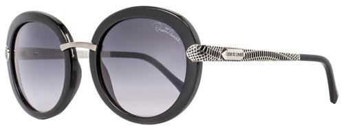 Roberto Cavalli Oval Sunglasses RC829S Alwaid 01B Black/Palladium 829