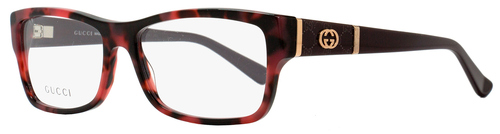 Gucci Rectangular Eyeglasses GG3133 MK6 Size: 54mm Red Havana/Burgundy 3133