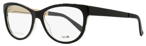 Gucci Oval Eyeglasses GG3742 2EN Size: 53mm Black/Floral 3742