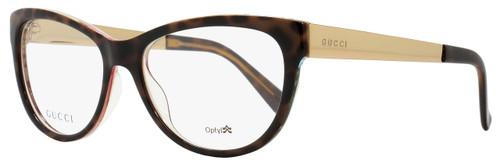 Gucci Oval Eyeglasses GG3742 2EZ Size: 53mm Havana/Floral/Gold 3742