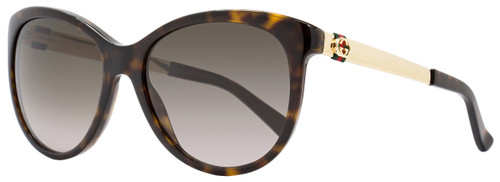 Gucci Oval Sunglasses GG3784S ANTHA Havana/Gold 3784