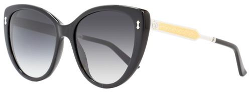 Gucci Cateye Sunglasses GG3804S CSA9O Black/Palladium 3804