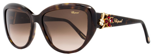 Chopard Rectangular Sunglasses SCH147S 0722 Shiny Tortoise 147