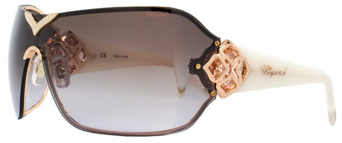 Chopard Shield Sunglasses SCH999S 8FCX Copper Gold/Ivory 999
