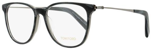 Tom Ford Oval Eyeglasses TF5384 020 Size: 53mm Gray Horn/Ruthenium FT5384