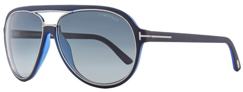 Tom Ford Aviator Sunglasses TF379 Sergio 89W Dark Blue/Ruthenium FT0379