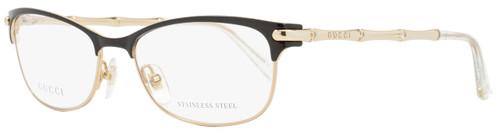 Gucci Oval Eyeglasses GG4277 4Z6 Size: 53mm Black/Gold 4277