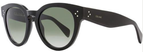 Celine Oval Sunglasses CL41049S 807XM Black 41049