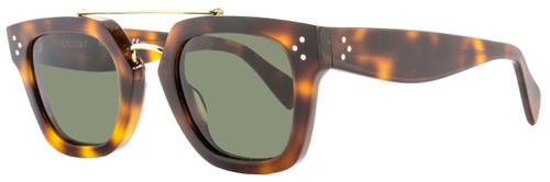 Celine Square Sunglasses CL41077S 05L1E Havana/Gold 41077