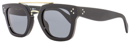 Celine Square Sunglasses CL41077S 807BN Black/Gold 41077