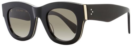 Celine Oval Sunglasses CL41095S AUBZ3 Black/Gold 41095