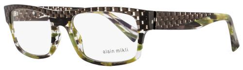 Alain Mikli Rectangular Eyeglasses A01251 B0G5 Size: 53mm Brown/Green Melange 1251