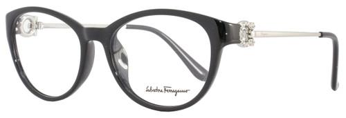 Salvatore Ferragamo Oval Eyeglasses SF2704R 001 Size: 53mm Black 2704