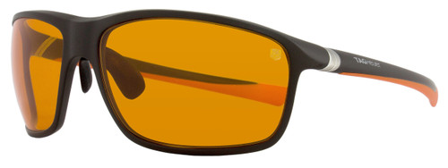 Tag Heuer Sport Sunglasses TH6023 27° 806 Matte Dark Brown/Orange 6023