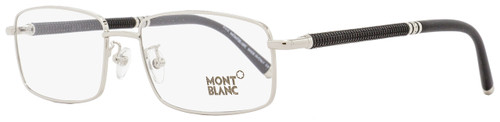 Montblanc Rectangular Eyeglasses MB396 016 Size: 55mm Palladium/Matte Black 396