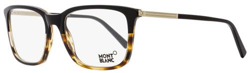 Montblanc Rectangular Eyeglasses MB544 005 Size: 57mm Black/Havana 544