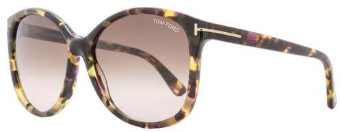 Tom Ford Butterfly Sunglasses TF275 Alicia 56B Multi Havana FT0275
