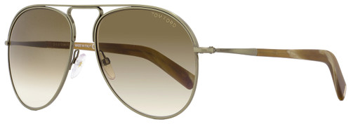 Tom Ford Aviator Sunglasses TF448 Cody 33F Antique Gold/Brown FT0448