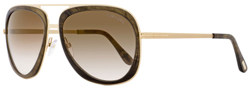 Tom Ford Square Sunglasses TF469 Sam 50C Brown/Rose Gold FT0469