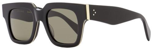 Celine Square Sunglasses CL41097S AUB70 Shiny Black/Gold 41097
