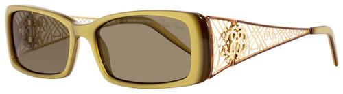 Roberto Cavalli Rectangular Eyeglasses RC430 Titanio K68 Size: 51mm Beige/Brown/Gold 430