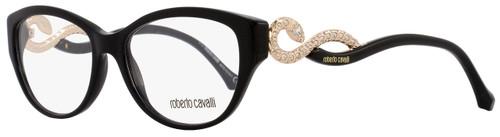 Roberto Cavalli Oval Eyeglasses RC938 Prijipati 001 Size: 54mm Black/Rose Gold 938