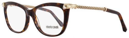 Roberto Cavalli Rectangular Eyeglasses RC944 Regulus 052 Size: 53mm Havana/Rose Gold 944