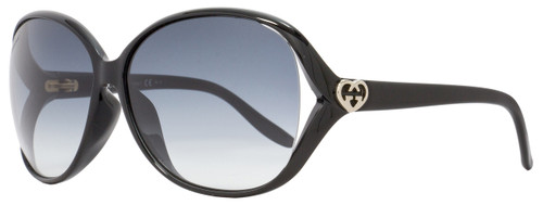 Gucci Butterfly Sunglasses GG3525KS D28JJ Shiny Black 3525