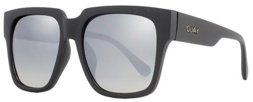Quay Square Sunglasses QW000071 On The Prowl BLK-SLV Matte Black 071