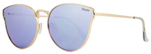 Quay Cateye Sunglasses QW000133 All My Love GOLD-PURP Gold 133