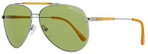 Tom Ford Aviator Sunglasses TF378 Rick 14N Size: 62mm Ruthenium/Opal Honey FT0378