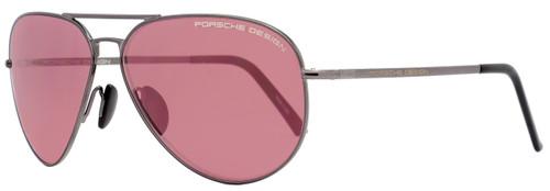 Porsche Design Aviator Sunglasses P8508 J Shiny Gunmetal 8508
