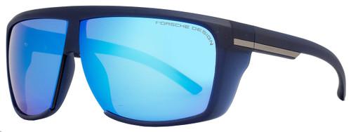 Porsche Design Wrap Sunglasses P8597 C Matte Dark Blue 8597