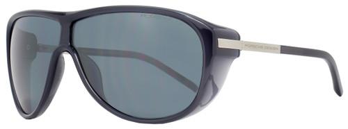 Porsche Design Wrap Sunglasses P8598 A Transparent Gray/Blue 8598