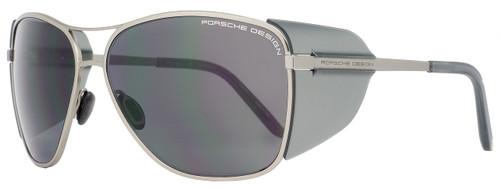 Porsche Design Rectangular Sunglasses P8600 A Ruthenium/Gray 8600