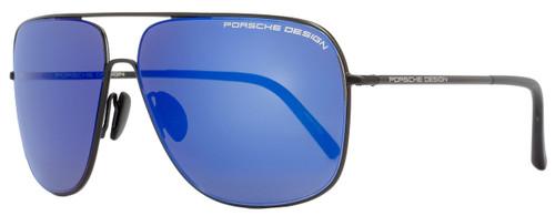 Porsche Design Rectangular Sunglasses P8607 A Black 8607
